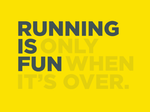 don't like running