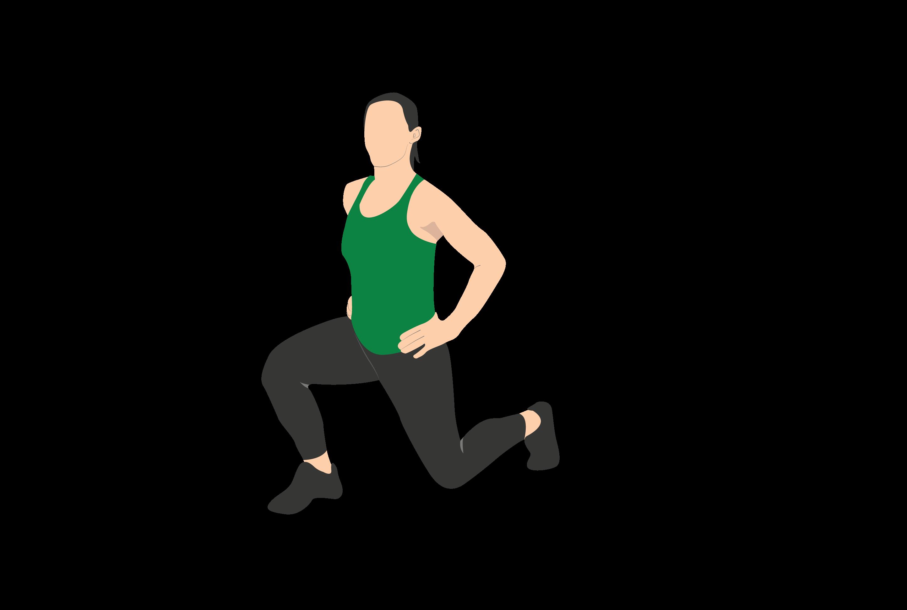 single leg reverse lunge
